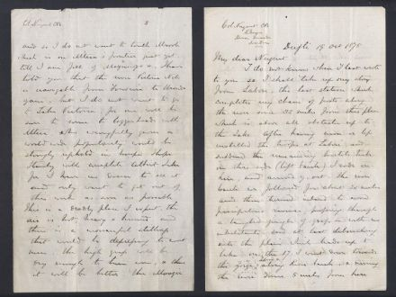 Important Handwritten Letter & Map from Major General Charles George Gordon Ugan